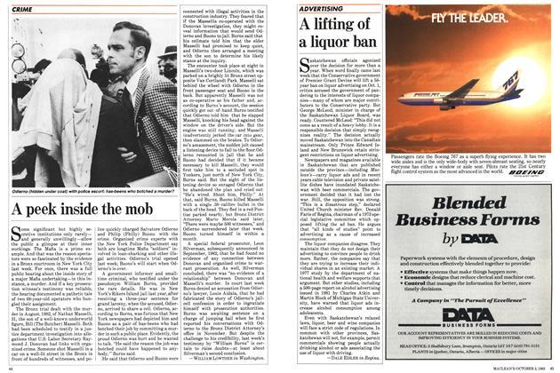 Article Preview: A lifting of a liquor ban, October 1983   Maclean's