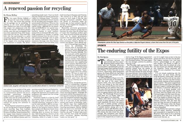 Article Preview: The enduring futility of the Expos, October 1983 | Maclean's