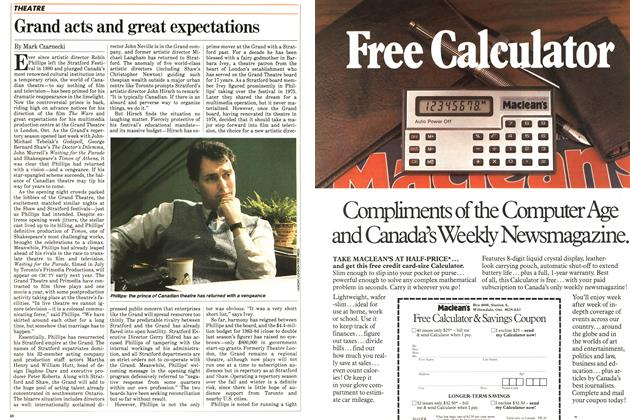 Article Preview: Grand acts and great expectations, October 1983 | Maclean's