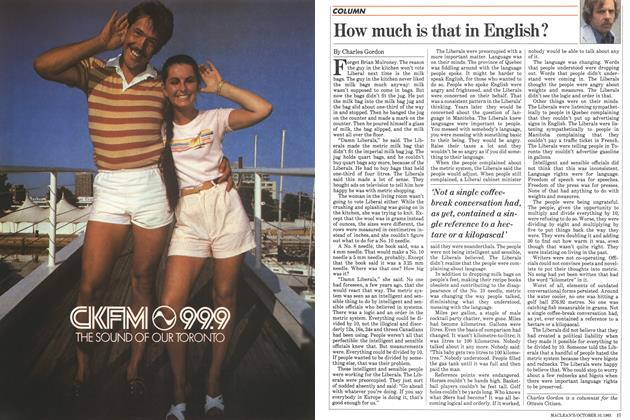 Article Preview: How much is that in English?, October 1983 | Maclean's
