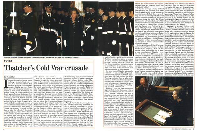 Article Preview: Thatcher's Cold War crusade, October 1983 | Maclean's