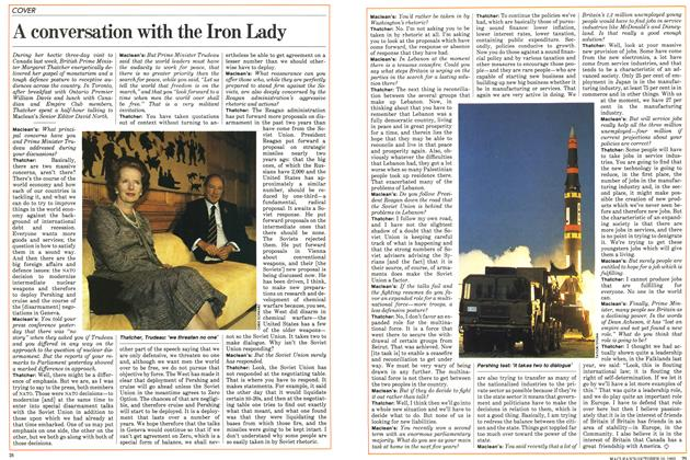 Article Preview: A conversation with the Iron Lady, October 1983 | Maclean's