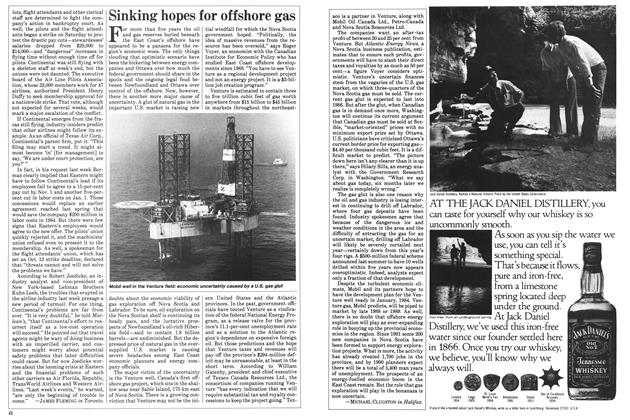 Article Preview: Sinking hopes for offshore gas, October 1983 | Maclean's