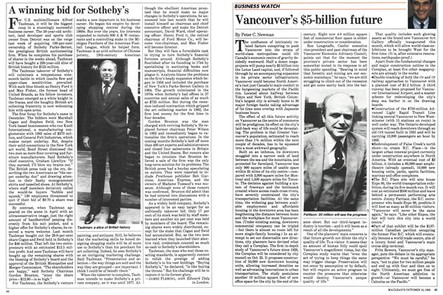 Article Preview: A winning bid for Sotheby's, October 1983 | Maclean's