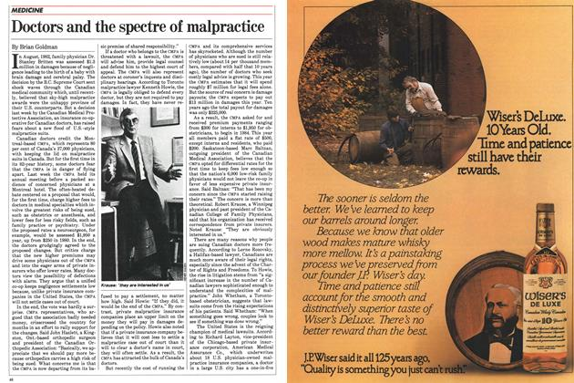 Article Preview: Doctors and the spectre of malpractice, October 1983 | Maclean's