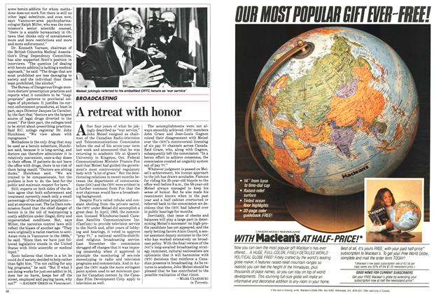 Article Preview: A retreat with honor, October 1983 | Maclean's