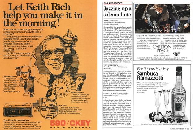 Article Preview: Jazzing up a solemn flute, October 1983 | Maclean's