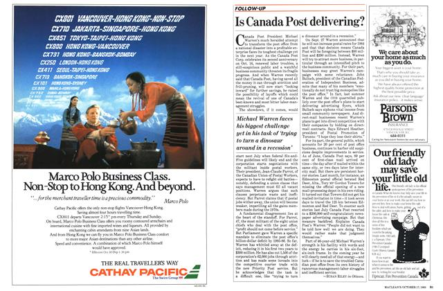 Article Preview: Is Canada Post delivering?, October 1983 | Maclean's