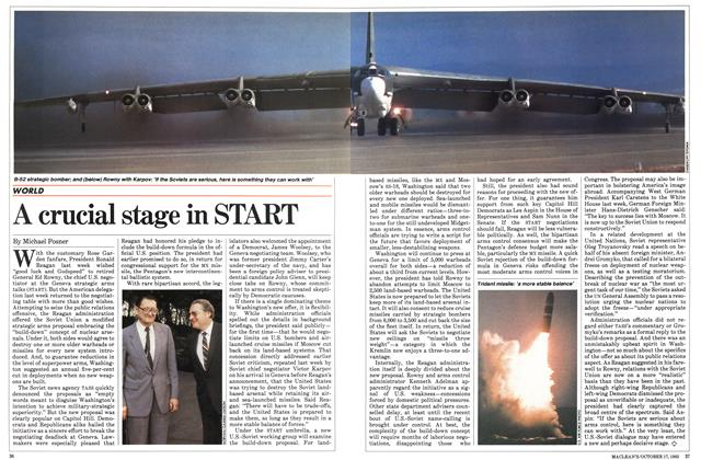 Article Preview: A crucial stage in START, October 1983 | Maclean's