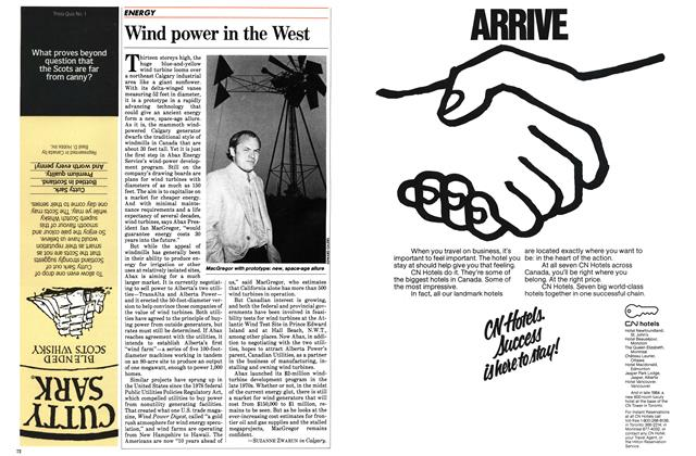 Article Preview: Wind power in the West, October 1983 | Maclean's