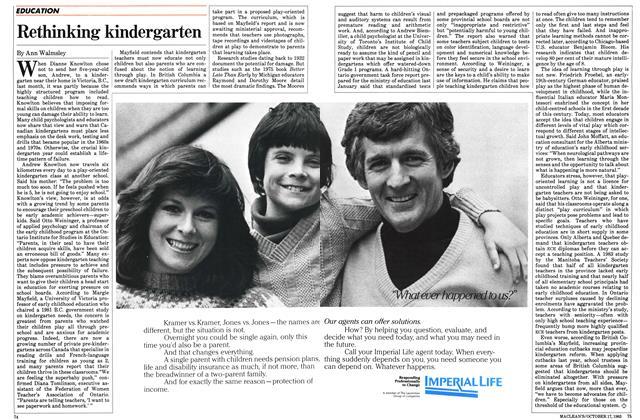 Article Preview: Rethinking kindergarten, October 1983 | Maclean's