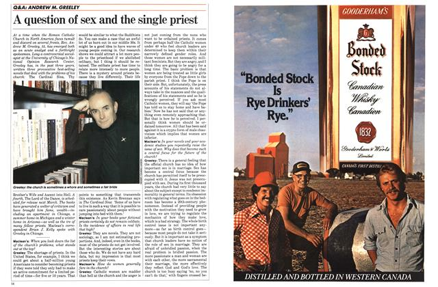 Article Preview: A question of sex and the single priest, October 1983 | Maclean's