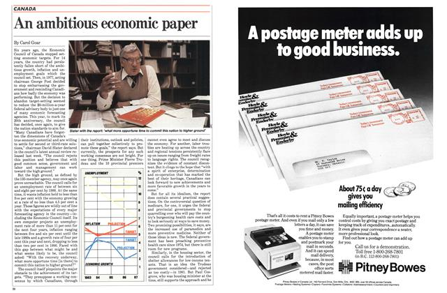 Article Preview: An ambitious economic paper, October 1983 | Maclean's