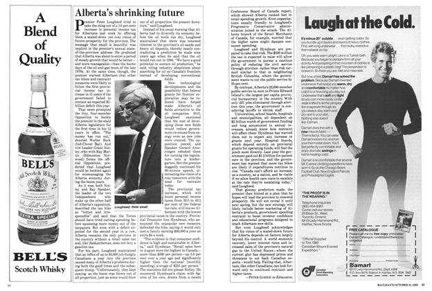 Article Preview: Alberta's shrinking future, October 1983 | Maclean's