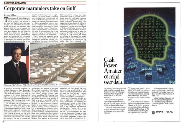 Article Preview: Corporate marauders take on Gulf, October 1983 | Maclean's