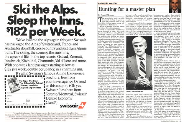Article Preview: Hunting for a master plan, October 1983 | Maclean's