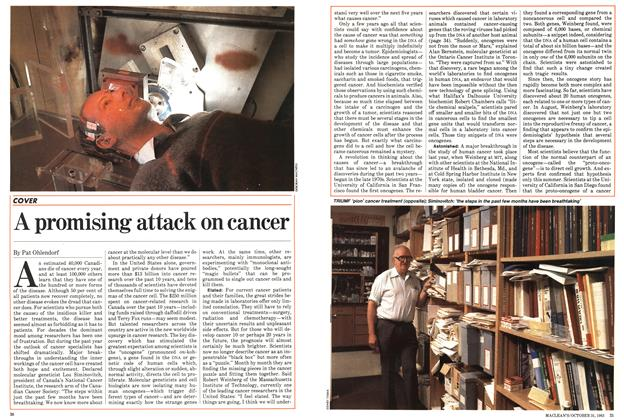 Article Preview: A promising attack on cancer, October 1983 | Maclean's