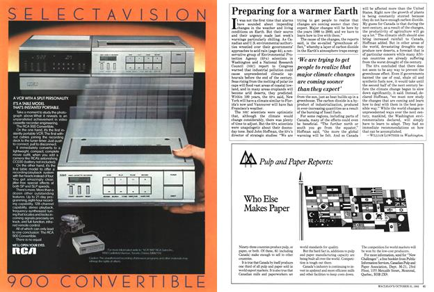 Article Preview: Preparing for a warmer Earth, October 1983 | Maclean's