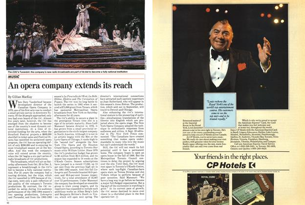 Article Preview: An opera company extends its reach, October 1983 | Maclean's