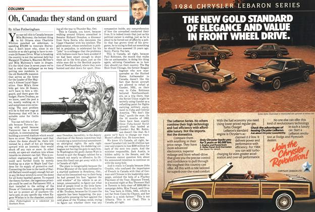 Article Preview: Oh, Canada: they stand on guard, October 1983 | Maclean's