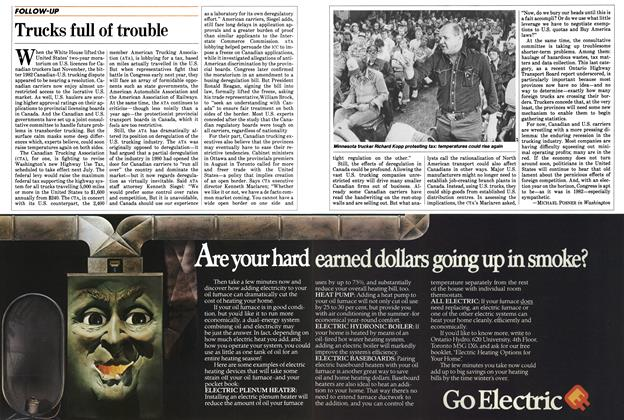 Article Preview: Trucks full of trouble, October 1983 | Maclean's
