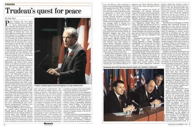 Article Preview: Trudeau's quest for peace, November 1983 | Maclean's
