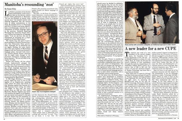 Article Preview: Manitoba's resounding 'non', November 1983 | Maclean's