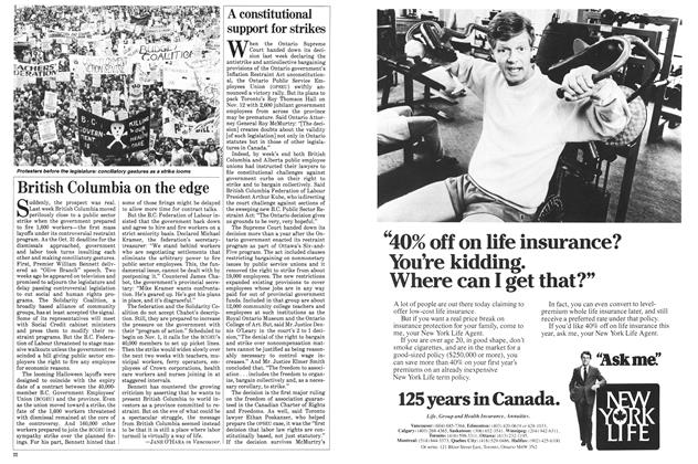 Article Preview: British Columbia on the edge, November 1983 | Maclean's