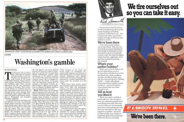 Article Preview: Washington's gamble, November 1983   Maclean's