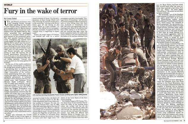 Article Preview: Fury in the wake of terror, November 1983 | Maclean's