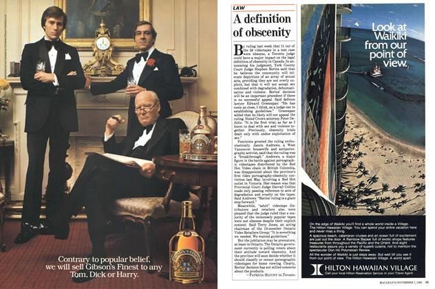Article Preview: A definition of obscenity, November 1983 | Maclean's