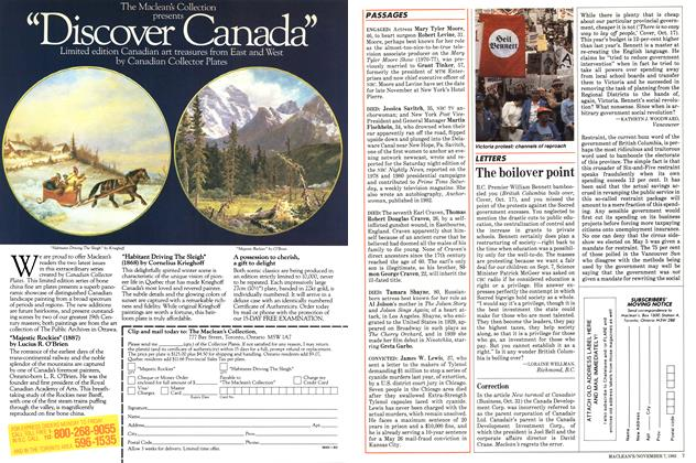 Article Preview: LETTERS, November 1983 | Maclean's