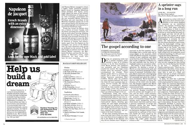 Article Preview: The gospel according to one, November 1983 | Maclean's