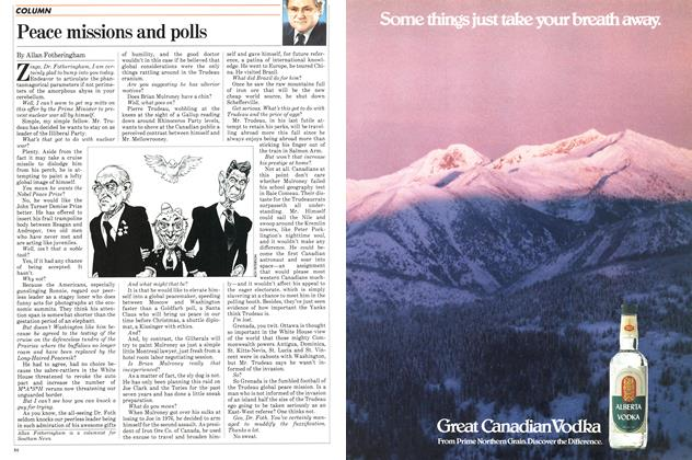 Article Preview: Peace missions and polls, November 1983 | Maclean's