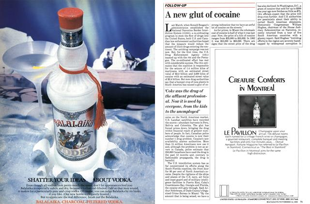 Article Preview: A new glut of cocaine, November 1983 | Maclean's