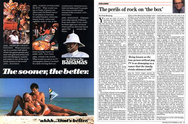 Article Preview: The perils of rock on 'the box', November 1983 | Maclean's