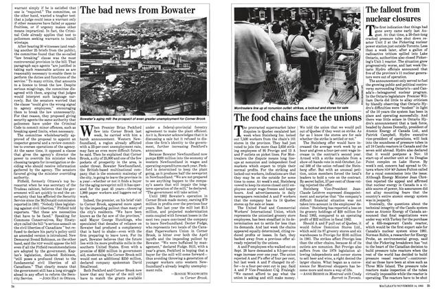 Article Preview: The fallout from nuclear closures, November 1983 | Maclean's