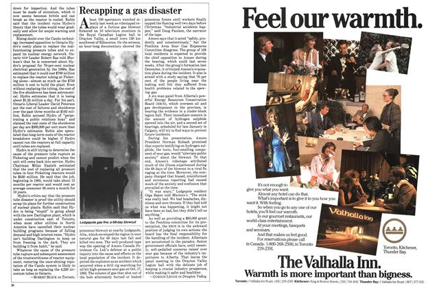 Article Preview: Recapping a gas disaster, November 1983 | Maclean's