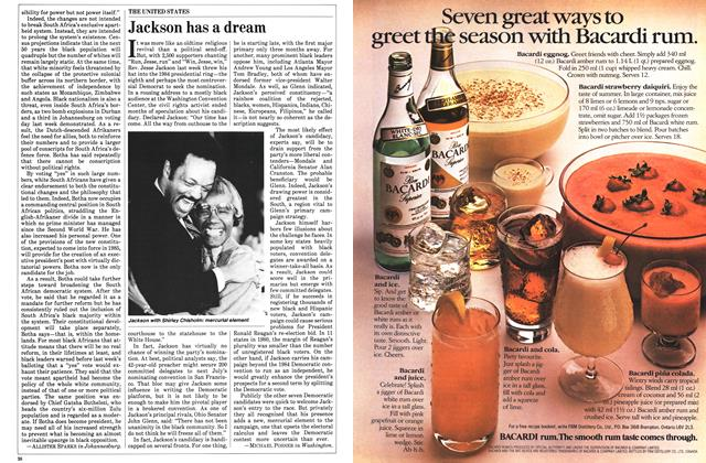 Article Preview: Jackson has a dream, November 1983 | Maclean's
