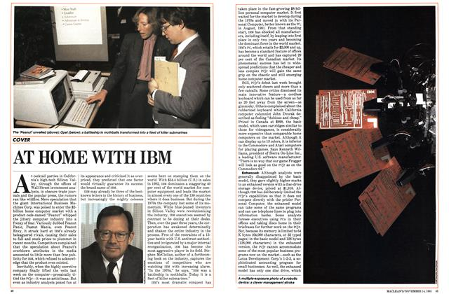 Article Preview: AT HOME WITH IBM, November 1983 | Maclean's
