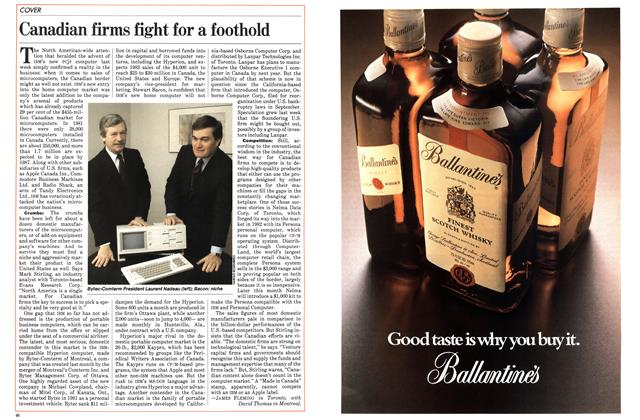 Article Preview: Canadian firms fight for a foothold, November 1983 | Maclean's