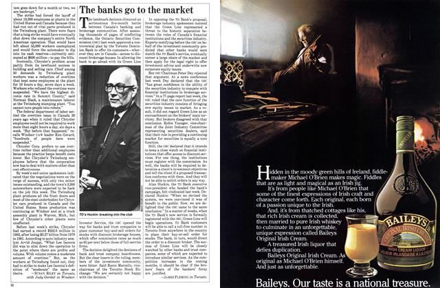 Article Preview: The banks go to the market, November 1983 | Maclean's