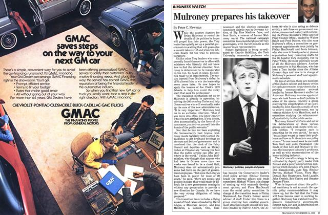 Article Preview: Mulroney prepares his takeover, November 1983 | Maclean's