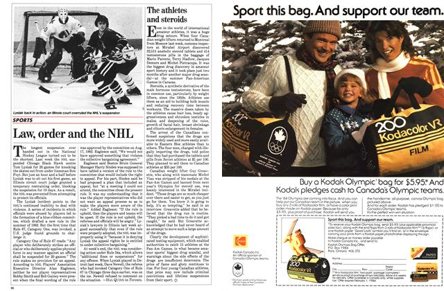 Article Preview: Law, order and the NHL, November 1983 | Maclean's
