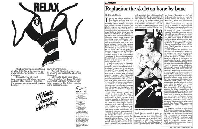 Article Preview: Replacing the skeleton bone by bone, November 1983 | Maclean's