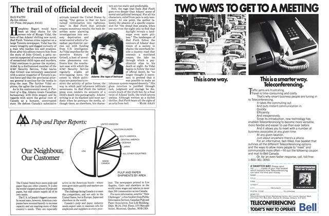 Article Preview: The trail of official deceit, November 1983 | Maclean's