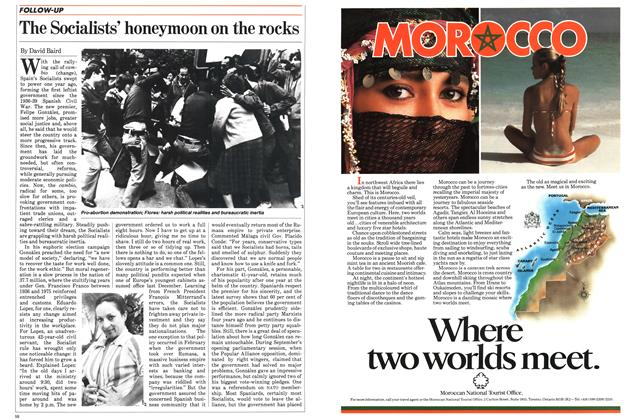 Article Preview: The Socialists' honeymoon on the rocks, November 1983 | Maclean's
