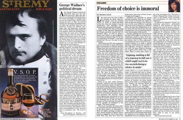 Article Preview: Freedom of choice is immoral, November 1983 | Maclean's