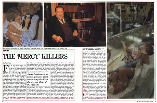 Article Preview: THE 'MERCY' KILLERS, November 1983 | Maclean's