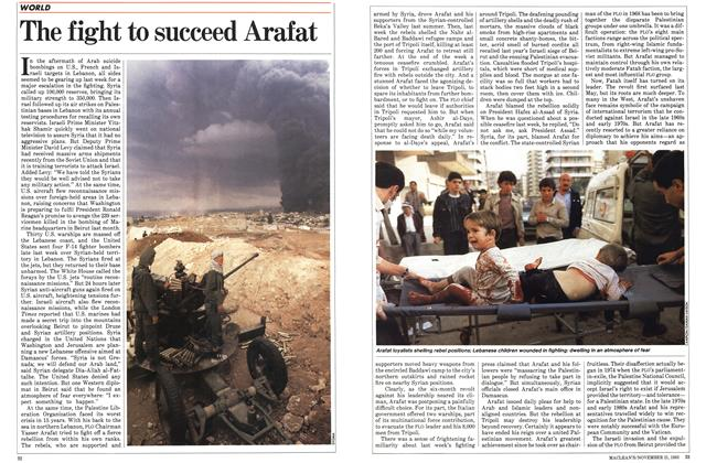 Article Preview: The fight to succeed Arafat, November 1983 | Maclean's